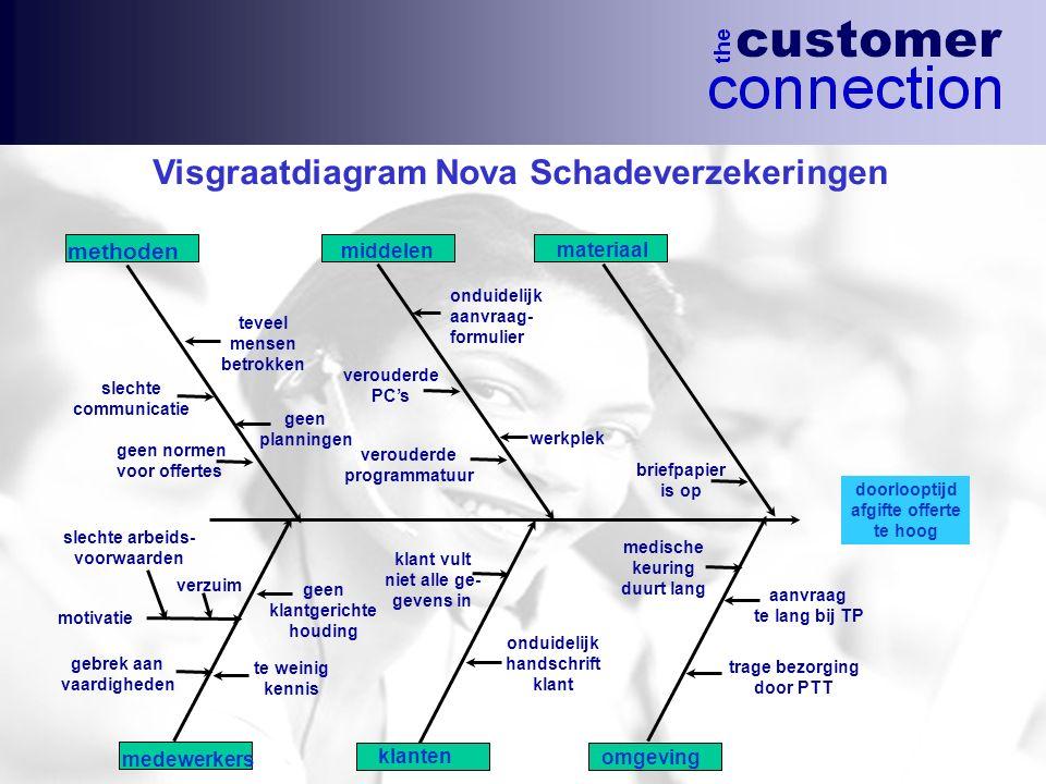 Visgraatdiagram Nova Schadeverzekeringen