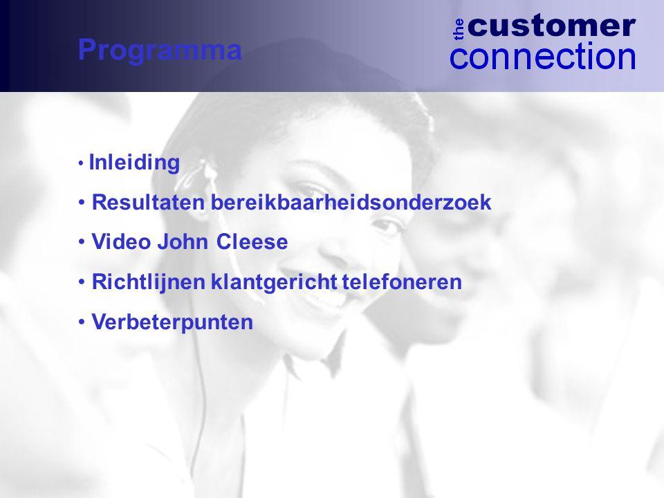 Programma Resultaten bereikbaarheidsonderzoek Video John Cleese