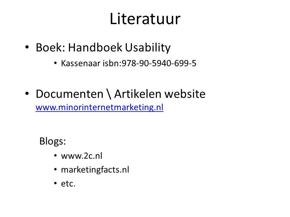 Literatuur Boek: Handboek Usability