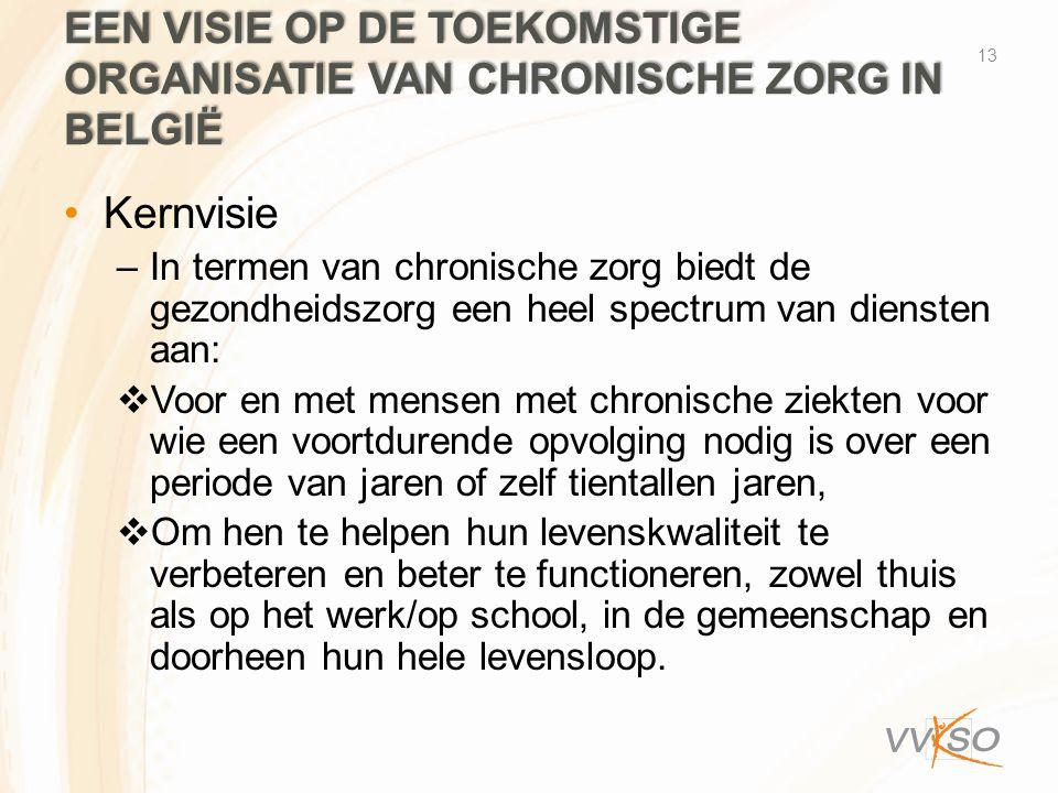 Een visie op de toekomstige organisatie van chronische zorg in België