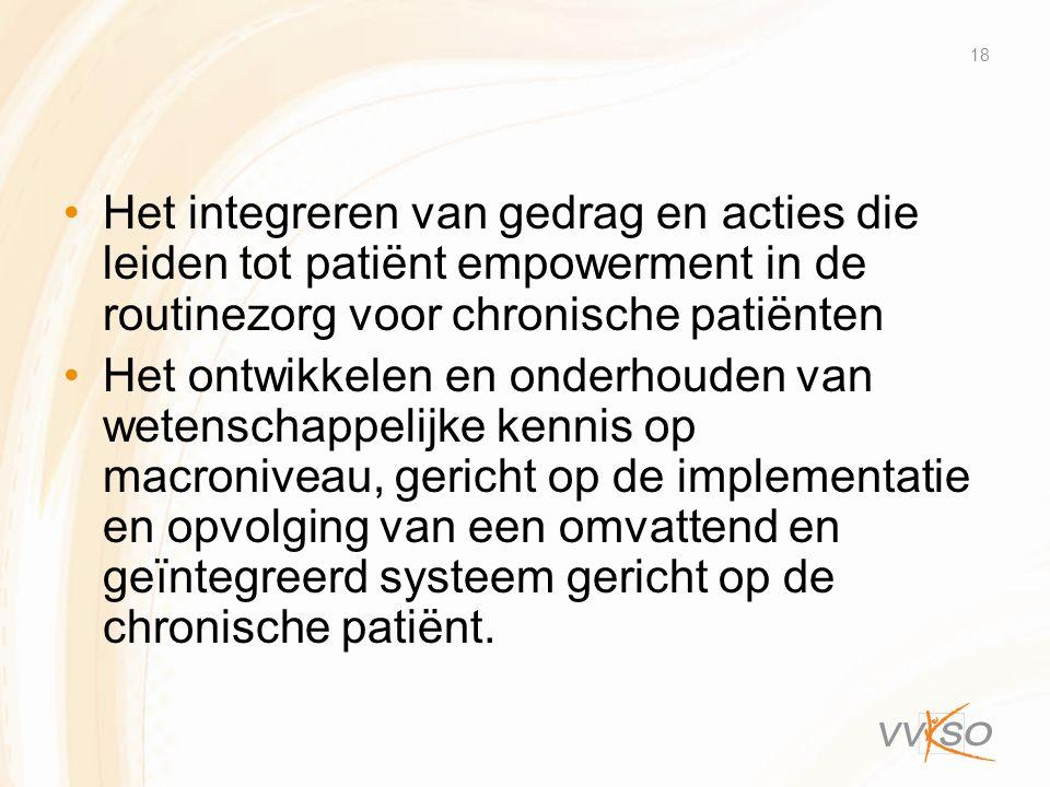 Het integreren van gedrag en acties die leiden tot patiënt empowerment in de routinezorg voor chronische patiënten