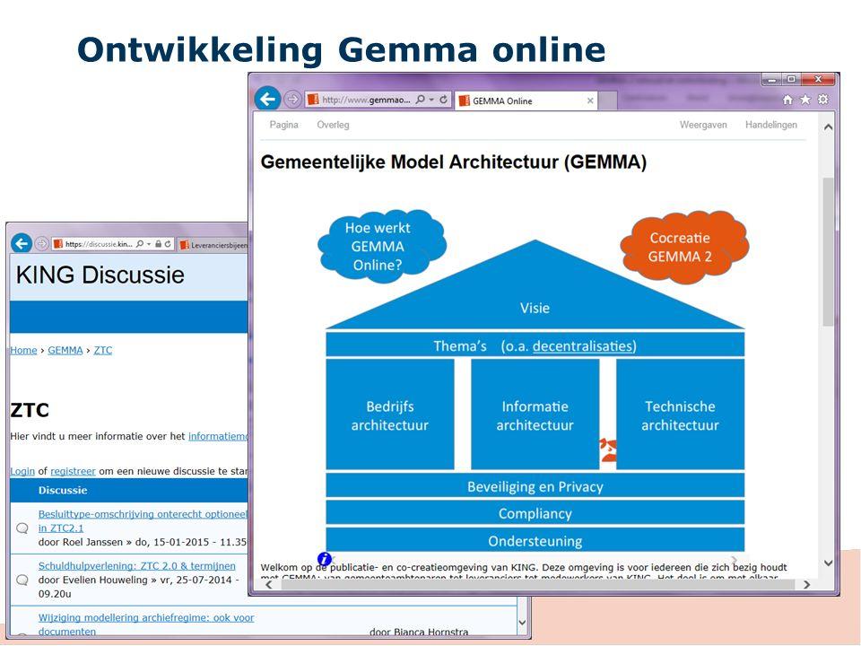Ontwikkeling Gemma online