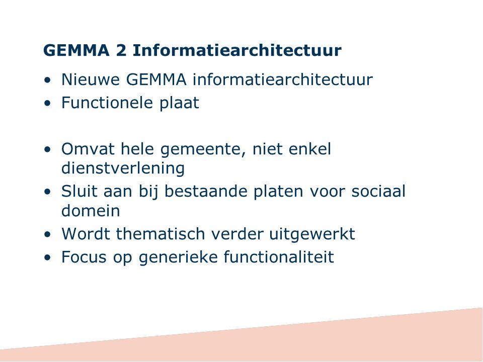GEMMA 2 Informatiearchitectuur