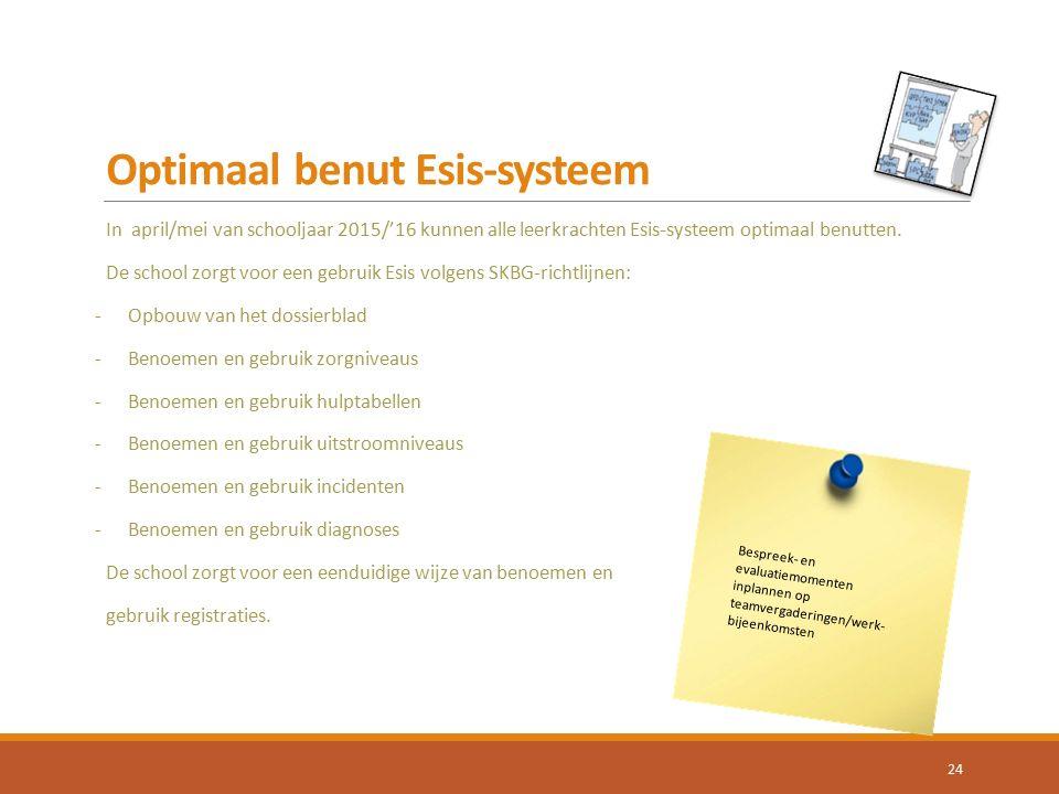 Optimaal benut Esis-systeem