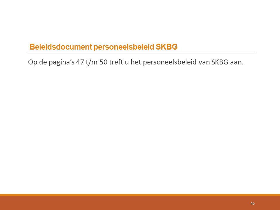 Beleidsdocument personeelsbeleid SKBG