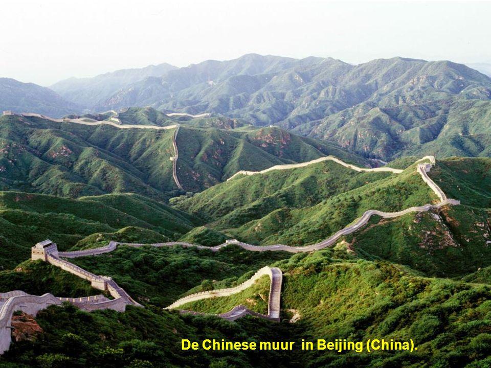 De Chinese muur in Beijing (China).