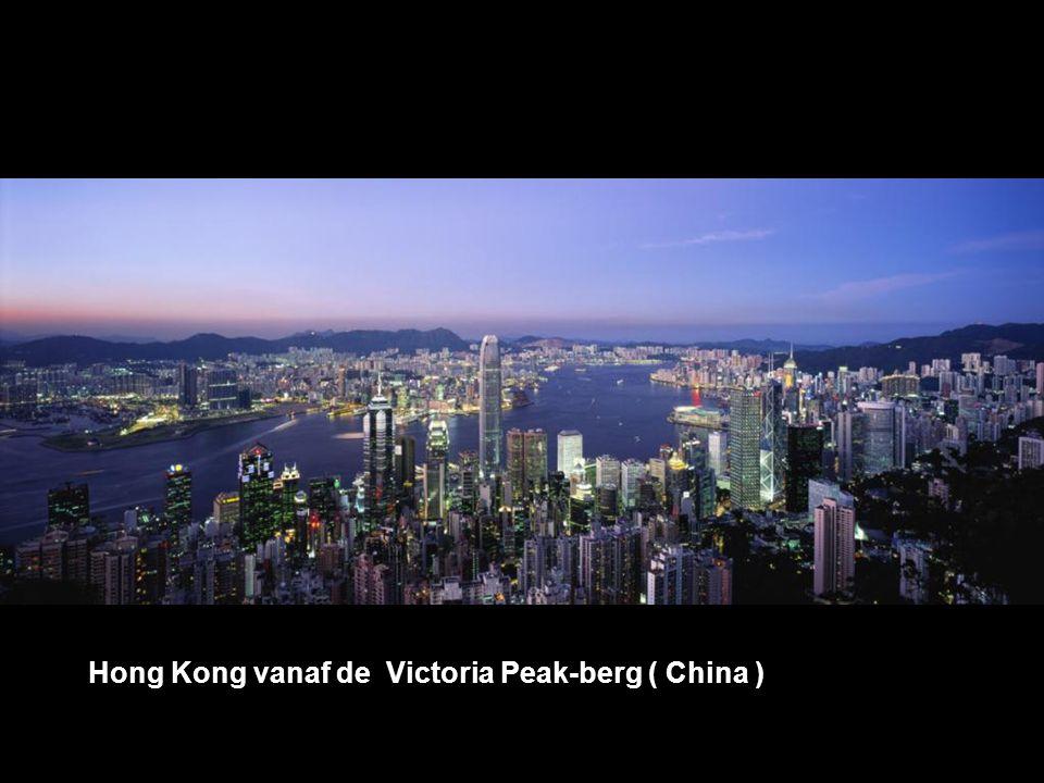 Hong Kong vanaf de Victoria Peak-berg ( China )