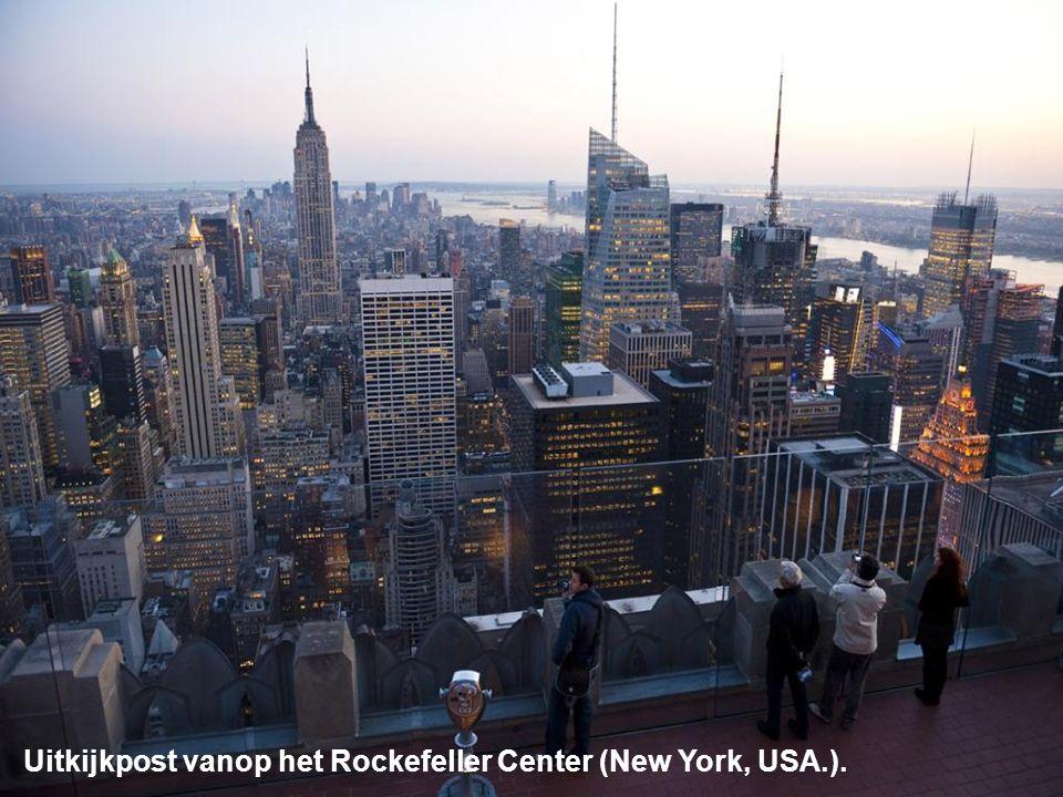 Uitkijkpost vanop het Rockefeller Center (New York, USA.).