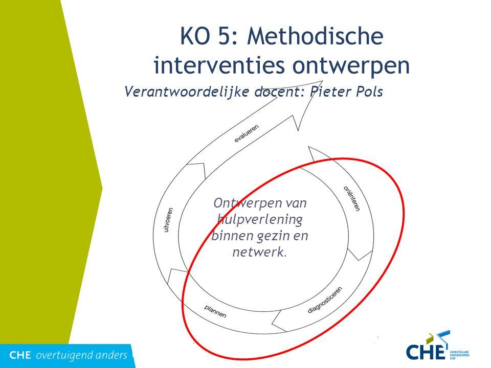 KO 5: Methodische interventies ontwerpen