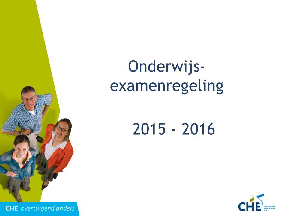 Onderwijs- examenregeling