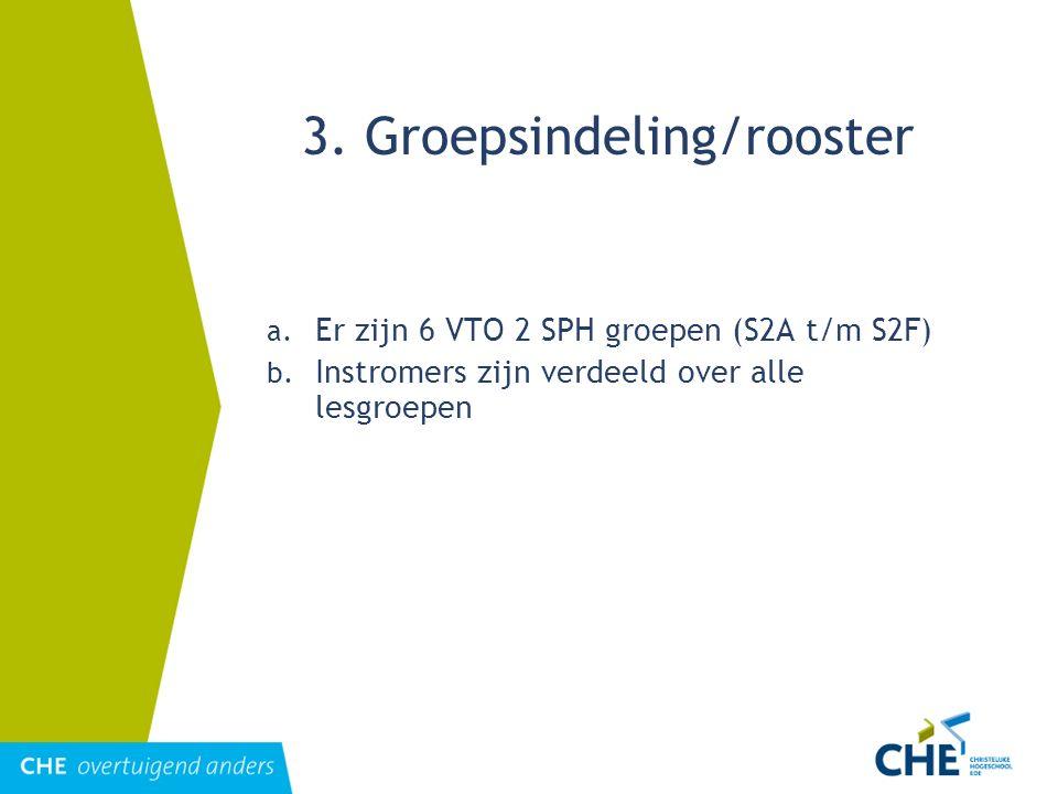 3. Groepsindeling/rooster