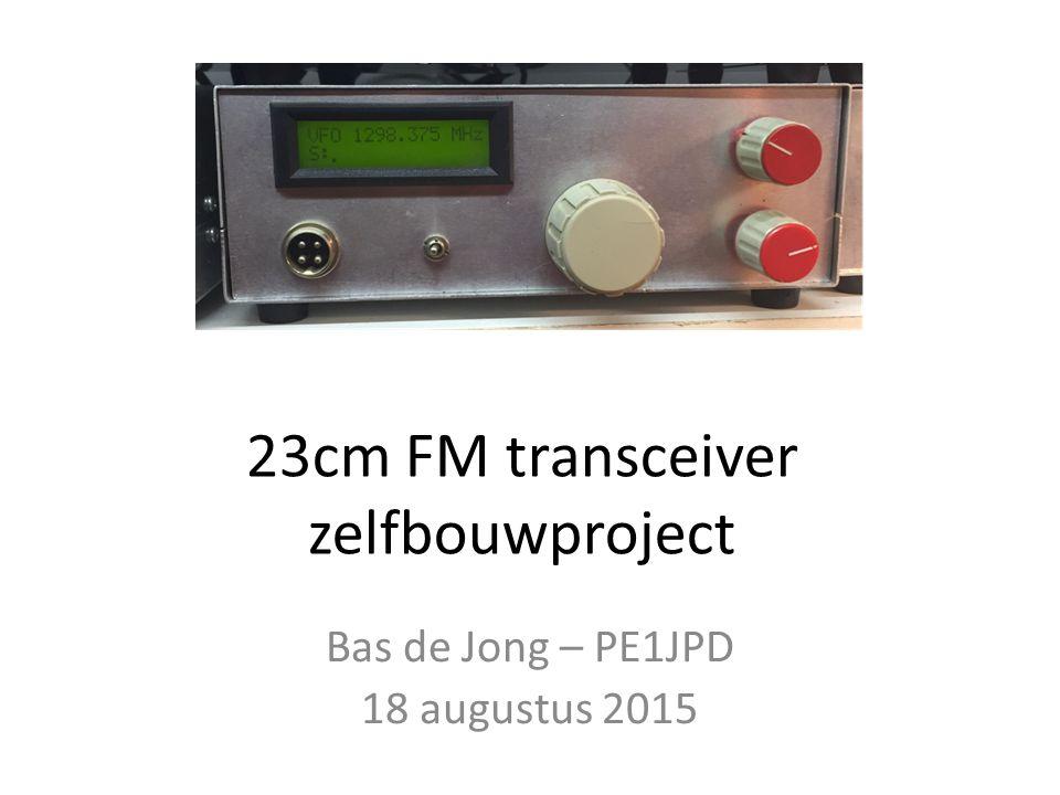 23cm FM transceiver zelfbouwproject