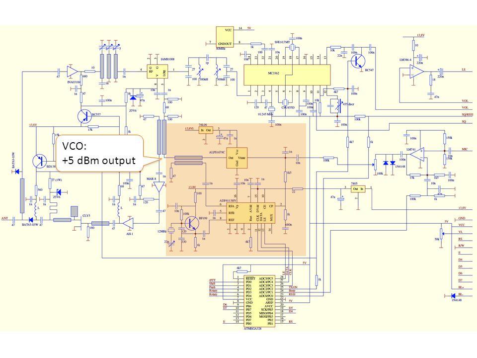VCO: +5 dBm output