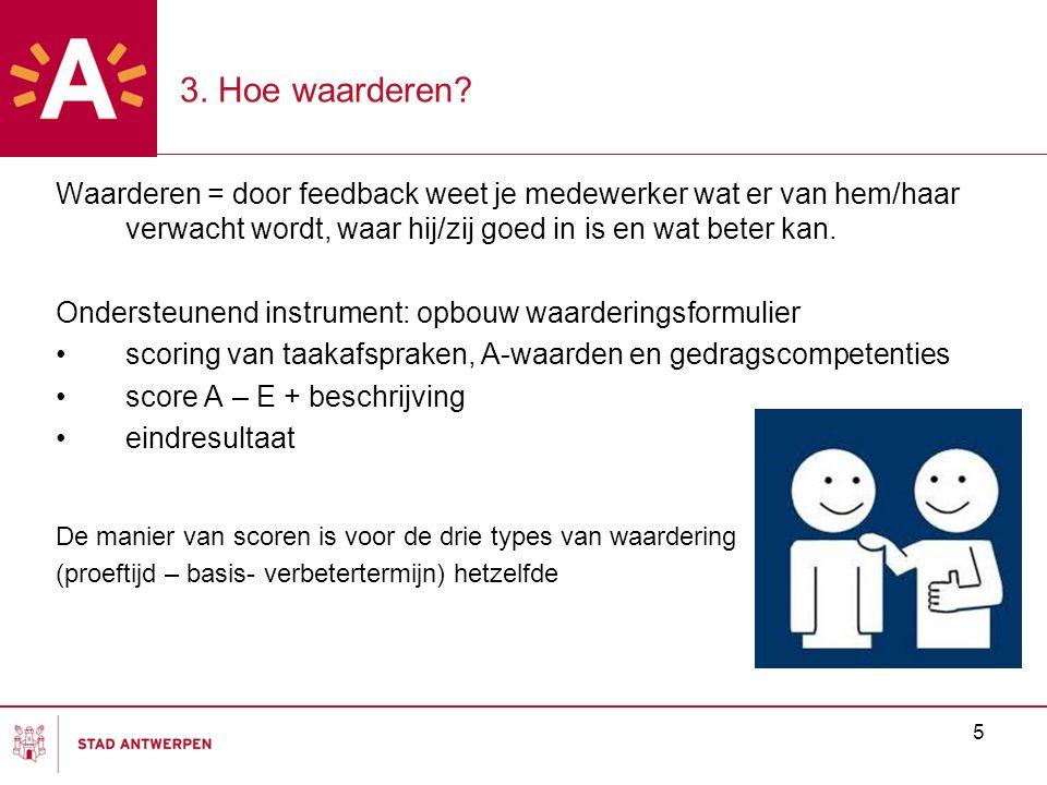 3. Hoe waarderen Waarderen = door feedback weet je medewerker wat er van hem/haar verwacht wordt, waar hij/zij goed in is en wat beter kan.