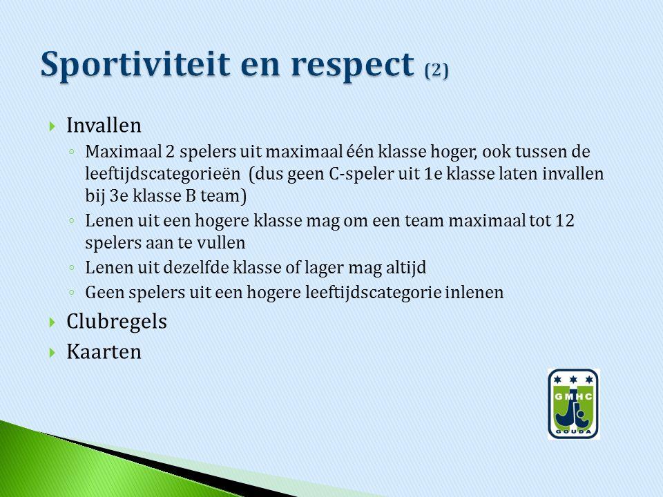 Sportiviteit en respect (2)