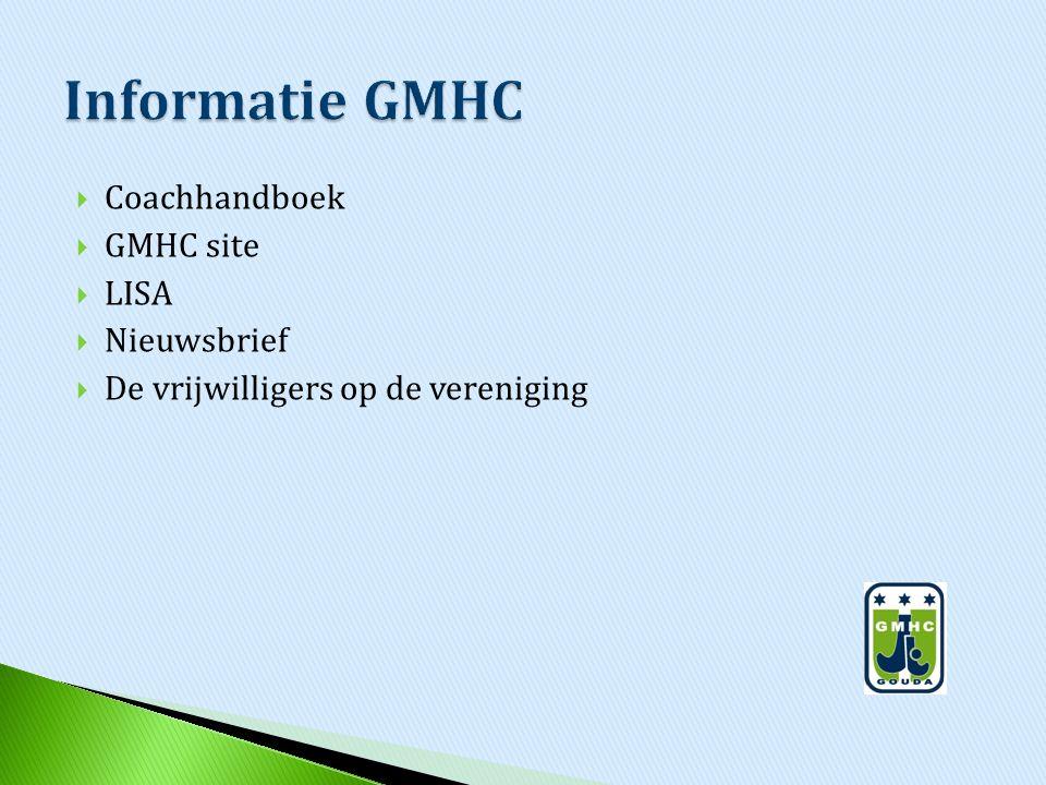 Informatie GMHC Coachhandboek GMHC site LISA Nieuwsbrief