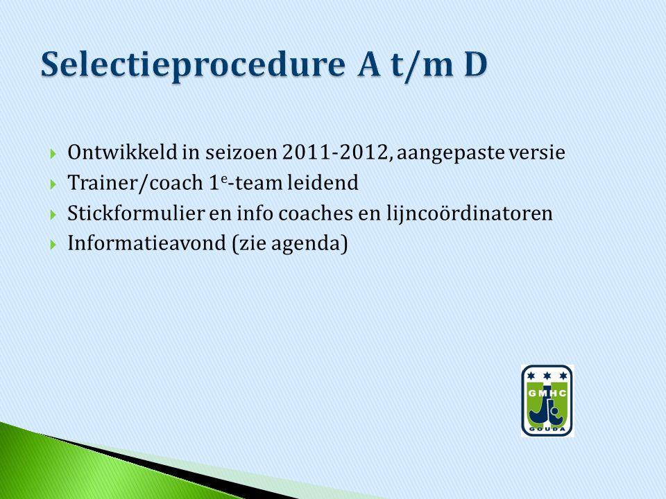 Selectieprocedure A t/m D
