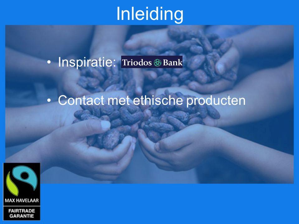 Inleiding Inspiratie: Contact met ethische producten