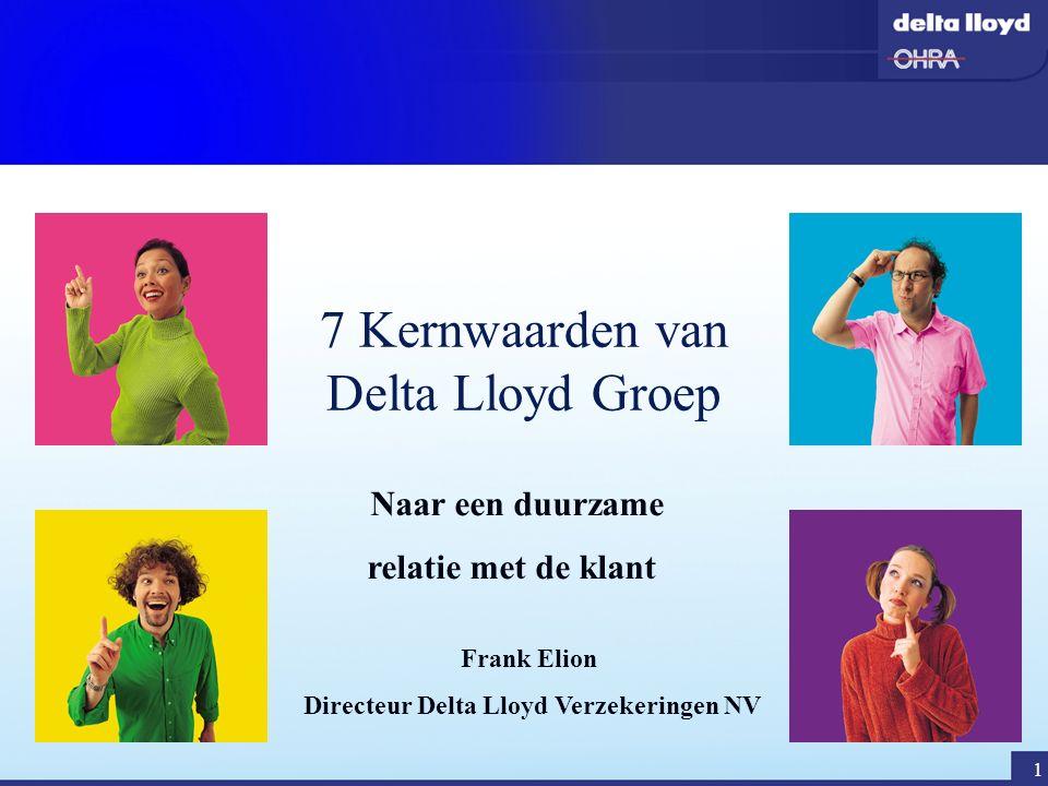 7 Kernwaarden van Delta Lloyd Groep