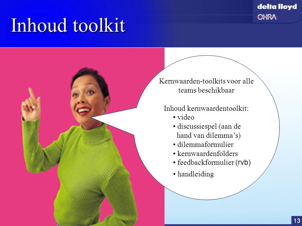 Inhoud toolkit Kernwaarden-toolkits voor alle teams beschikbaar