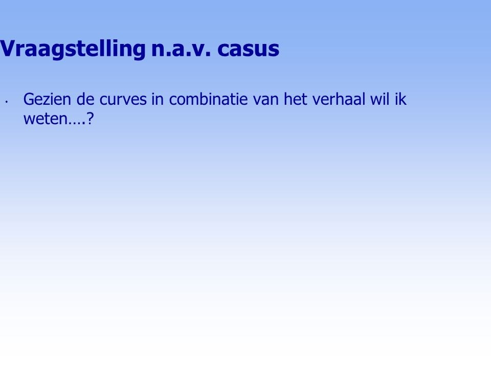 Vraagstelling n.a.v. casus