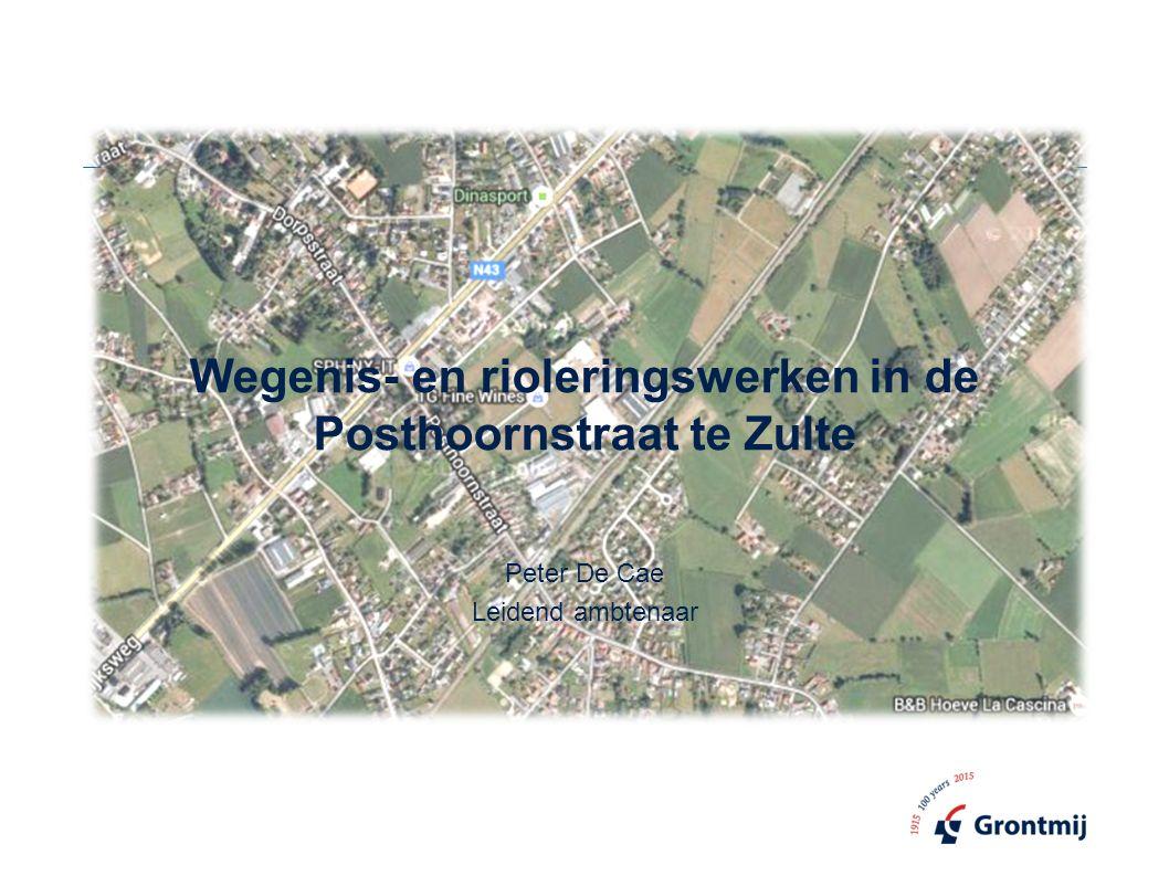 Wegenis- en rioleringswerken in de Posthoornstraat te Zulte