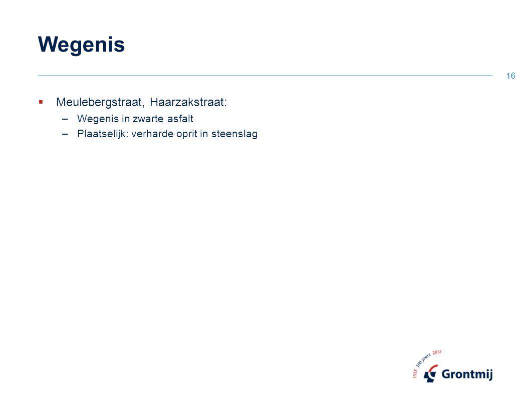 Wegenis Meulebergstraat, Haarzakstraat: Wegenis in zwarte asfalt