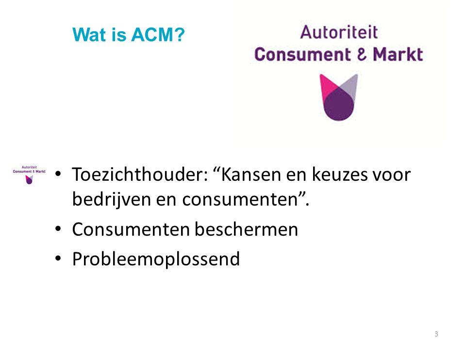 Toezichthouder: Kansen en keuzes voor bedrijven en consumenten .