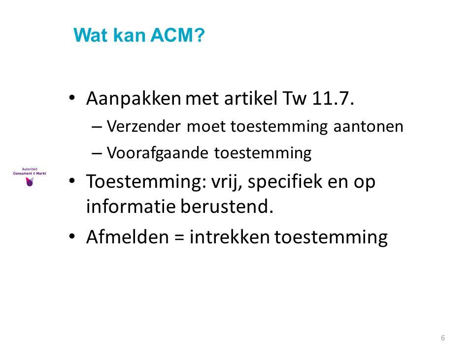 Aanpakken met artikel Tw 11.7.