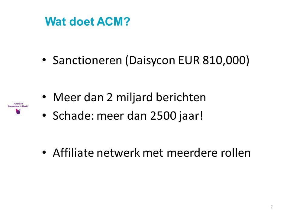 Sanctioneren (Daisycon EUR 810,000) Meer dan 2 miljard berichten