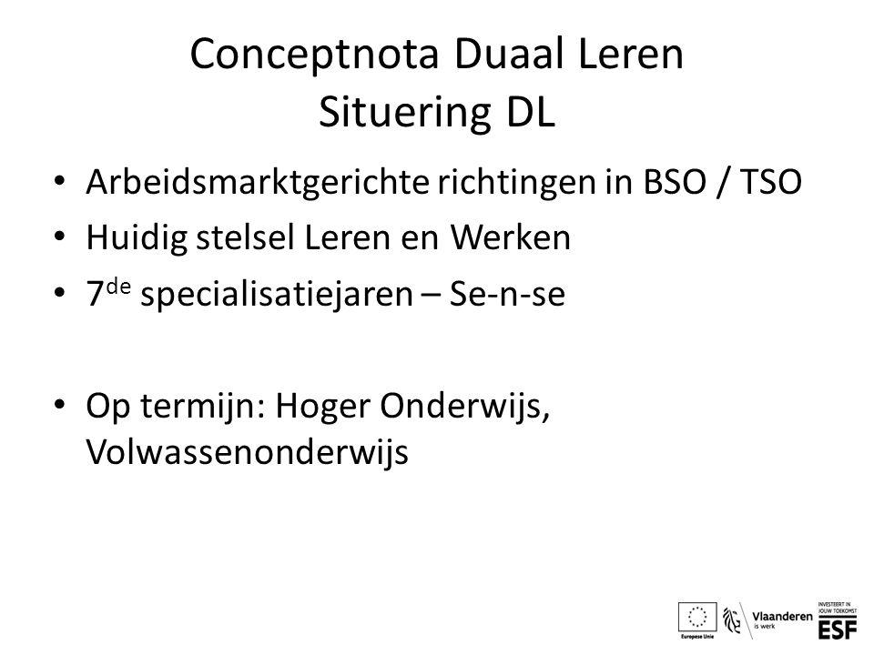 Conceptnota Duaal Leren Situering DL