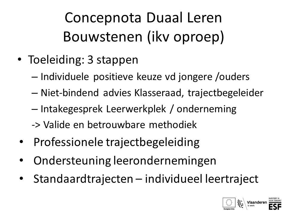 Concepnota Duaal Leren Bouwstenen (ikv oproep)