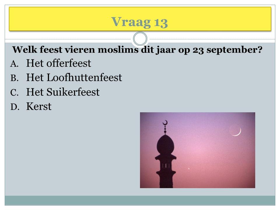 Welk feest vieren moslims dit jaar op 23 september