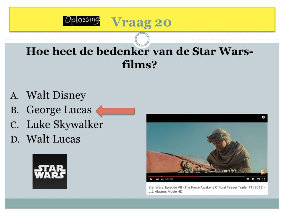 Hoe heet de bedenker van de Star Wars-films