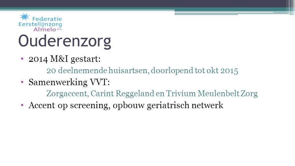 Ouderenzorg 2014 M&I gestart: Samenwerking VVT: