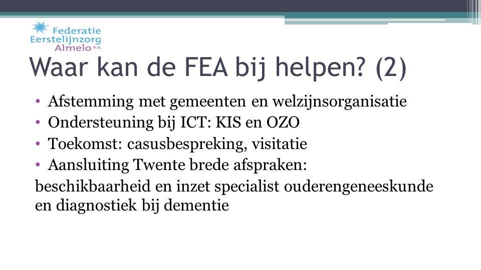 Waar kan de FEA bij helpen (2)