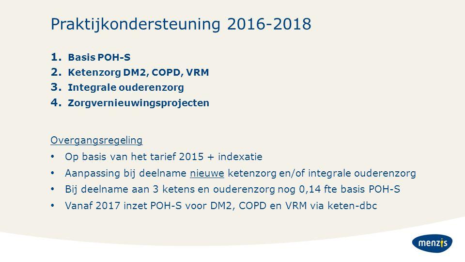 Praktijkondersteuning 2016-2018