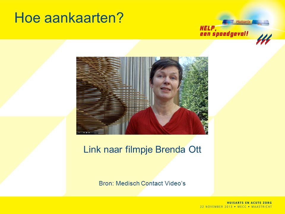 Hoe aankaarten Link naar filmpje Brenda Ott