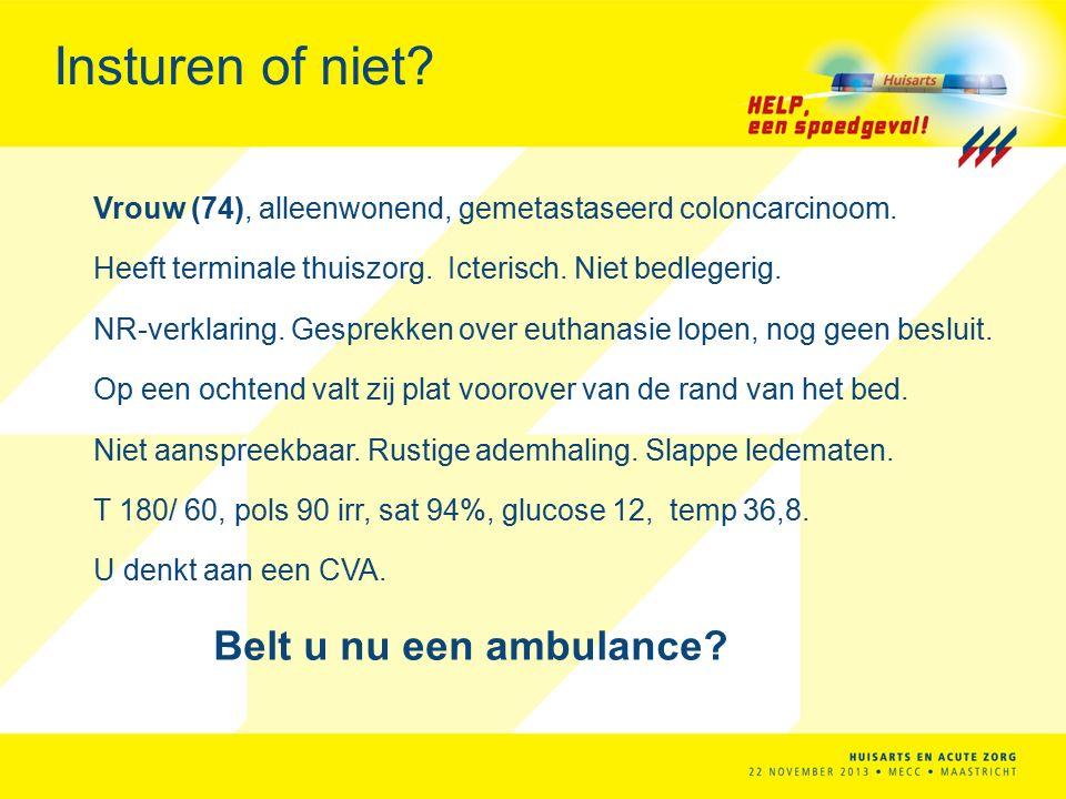 Insturen of niet Belt u nu een ambulance