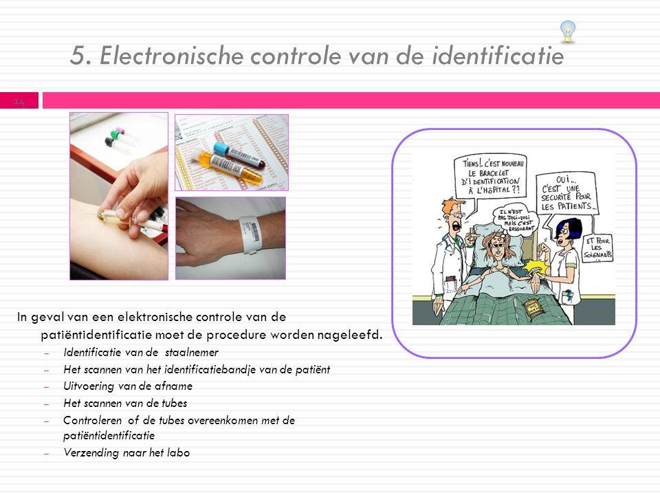 5. Electronische controle van de identificatie