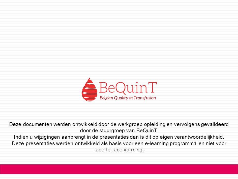 Ces documents ont été conçus par le groupe de travail éducation et validés par le groupe de pilotage de BeQuinT.