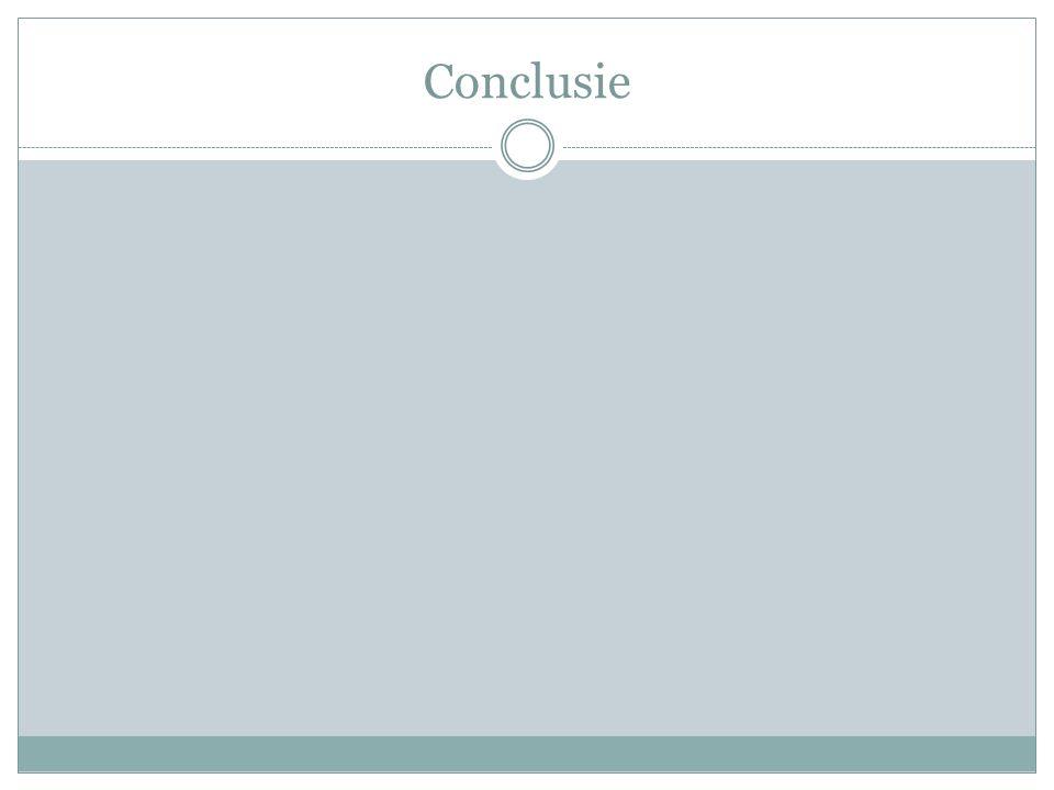 Conclusie Conclusie.