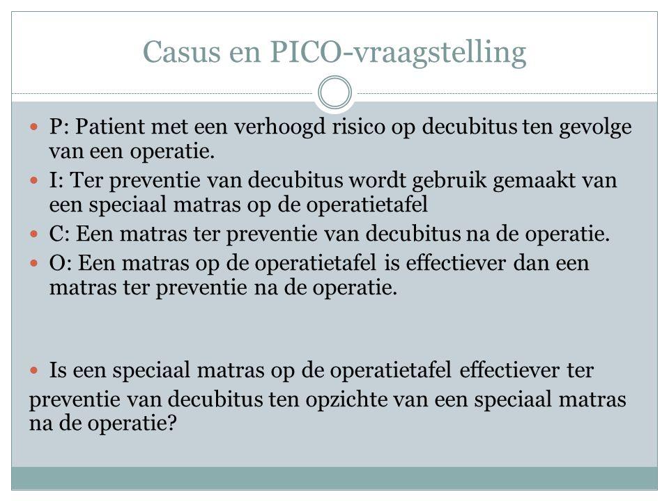 Casus en PICO-vraagstelling