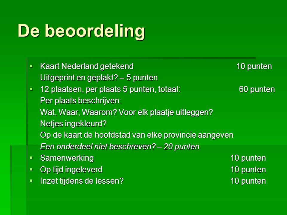 De beoordeling Kaart Nederland getekend 10 punten