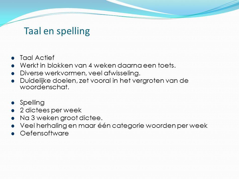 Taal en spelling Taal Actief