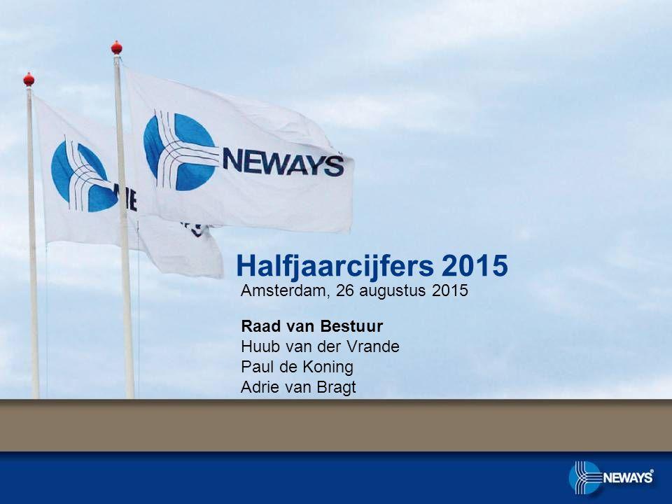 Halfjaarcijfers 2015 Amsterdam, 26 augustus 2015 Raad van Bestuur