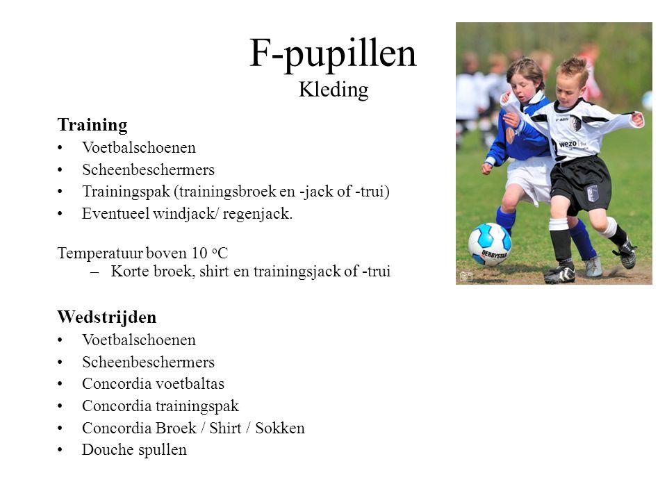 F-pupillen Kleding Training Wedstrijden Voetbalschoenen