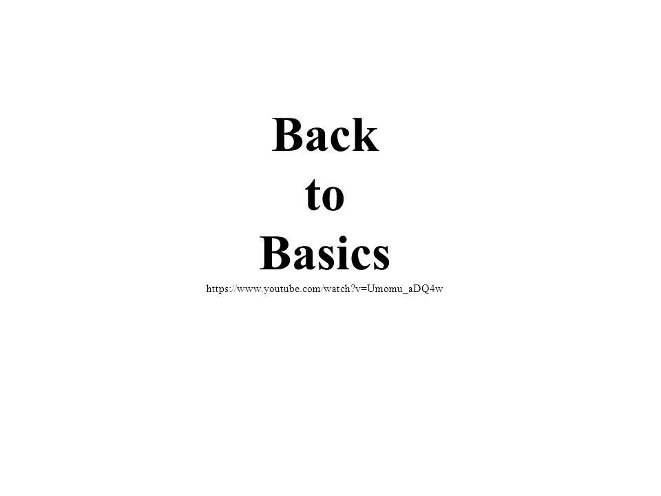 Back to Basics https://www.youtube.com/watch v=Umomu_aDQ4w