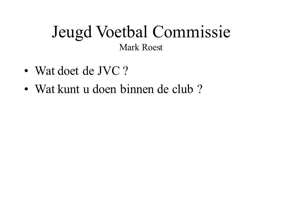 Jeugd Voetbal Commissie Mark Roest