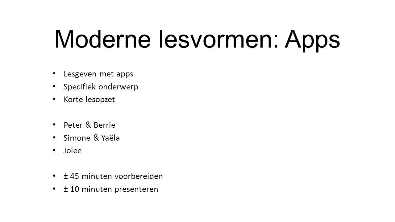 Moderne lesvormen: Apps